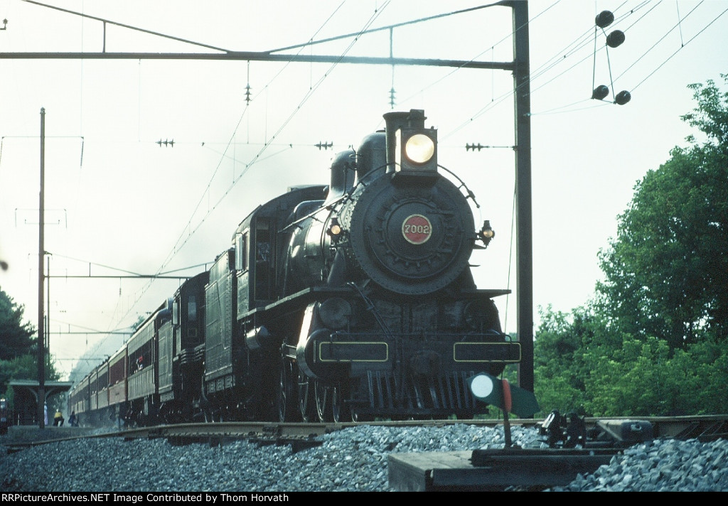 PRR 7002 heads up the Pennsylvania Limited heading east