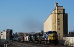 NS leased ex-CSX 7361 is leading general merchandise train 16T