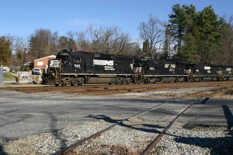 The Same Line Of Locomotives