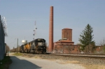 NS 6679 Pulls Past Old UNC Greensboro Power Plant