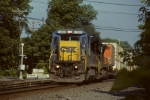 CSX 7530 leading NS train 214