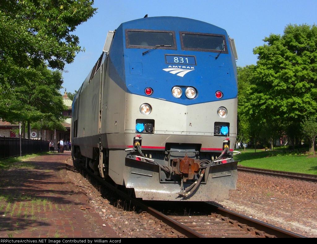 """Amtrak """"Missouri River Runner"""" in Kirkwood Station--June 23, 2010"""