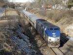 Westbound Amtrak Ann Rutledge on track #1
