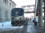 Eastbound Amtrak Ann Rutledge taking on passengers