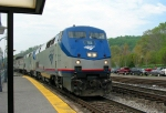 AMTK 132 leading eastbound Capitol Limited