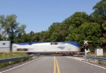 Northbound Amtrak Texas Eagle led by P42DC #203