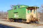 Vandalized BN Caboose