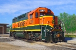 BNSF yard engine with modified scenery