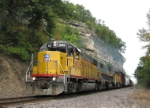 Union Pacific mixed freight in Cliff Cave County Park