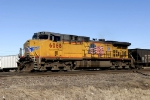 Union Pacific #6068 leading empty coal cars