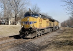 Union Pacific #5709 leading empty coal drag