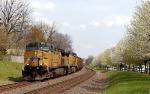 Union Pacific 5752 leading empty coal drag westward