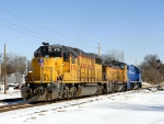 Union Pacific motive power making a back up move