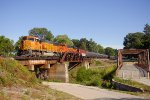 Northbound BNSF Oil Train In Kimmswick, Missouri