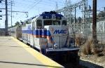 Northbound MARC commuter train