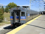 Washington, DC-bound MARC commuter train led by non-powered cab control car