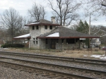 Abandoned commuter rail station at Tuxedo Park