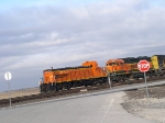BNSF 1210 in charge at the hump Alliance Texas