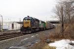 CSX 8486 passing under NJ Rt 46