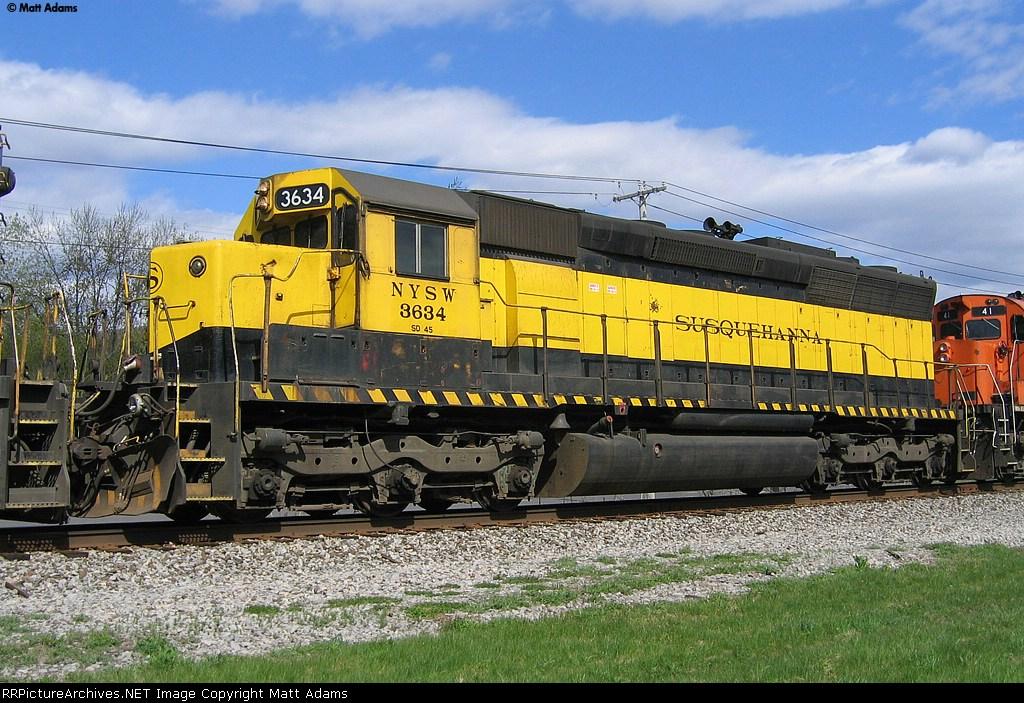 NYSW SD45 3634