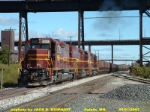 DMIR SD38-2, 223, under the ore docks,