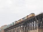 UP 9783 leads an intermodal EB across the Rio Grande