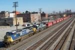 Southbound CSX train Q215
