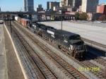 Northbound NS train