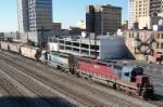 Northbound CSX grain train