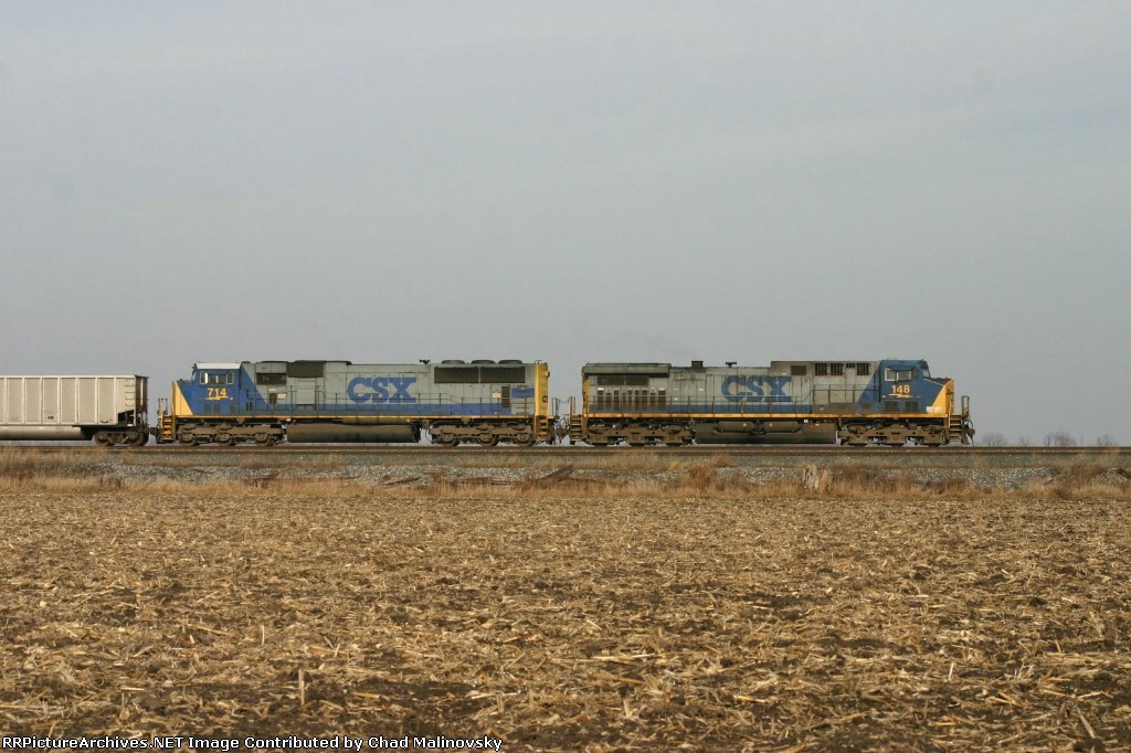 CSX 148 on Nipsco empties