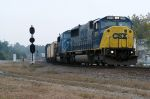 2 ex conrail sd60m moves a frieght out of hamlet