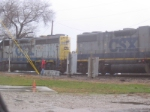 CSX at the switch