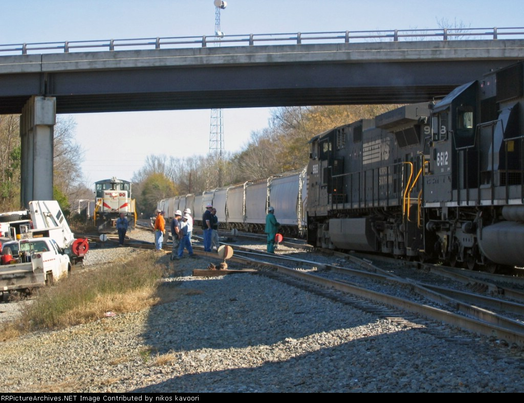 NS ties up downtown while the sandersville waits to get into town to intechange