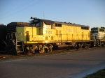 YRC 1602 sits in the Fernadina Beach yard in the setting sun
