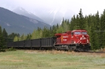 CPR Sulfur Train heading east at Banff