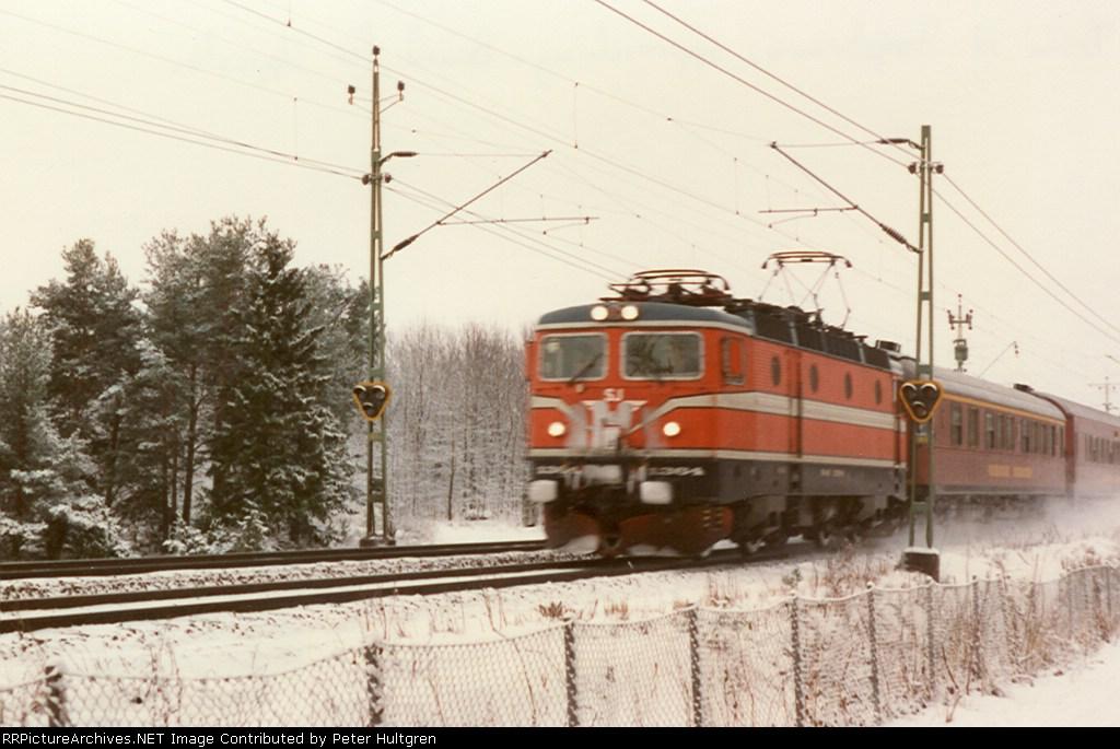 Swedish Electric Locomotive at High Speed