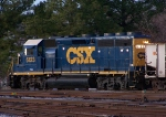 CSXT 6123 switching the yard