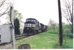 NS 9311 sits on the Monon