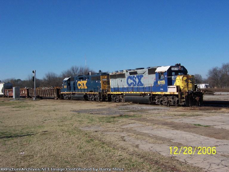 CSX 5118 leads yard job