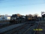 NS train 201 heads west pass Decatur depot