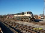 BNSF 9667 leads NS train 72Z towards Decatur depot.