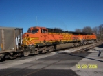 Closeup of BNSF 5710