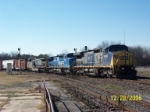 CSX 9010 leads northbound