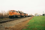 ES44AC leads intermodal train.