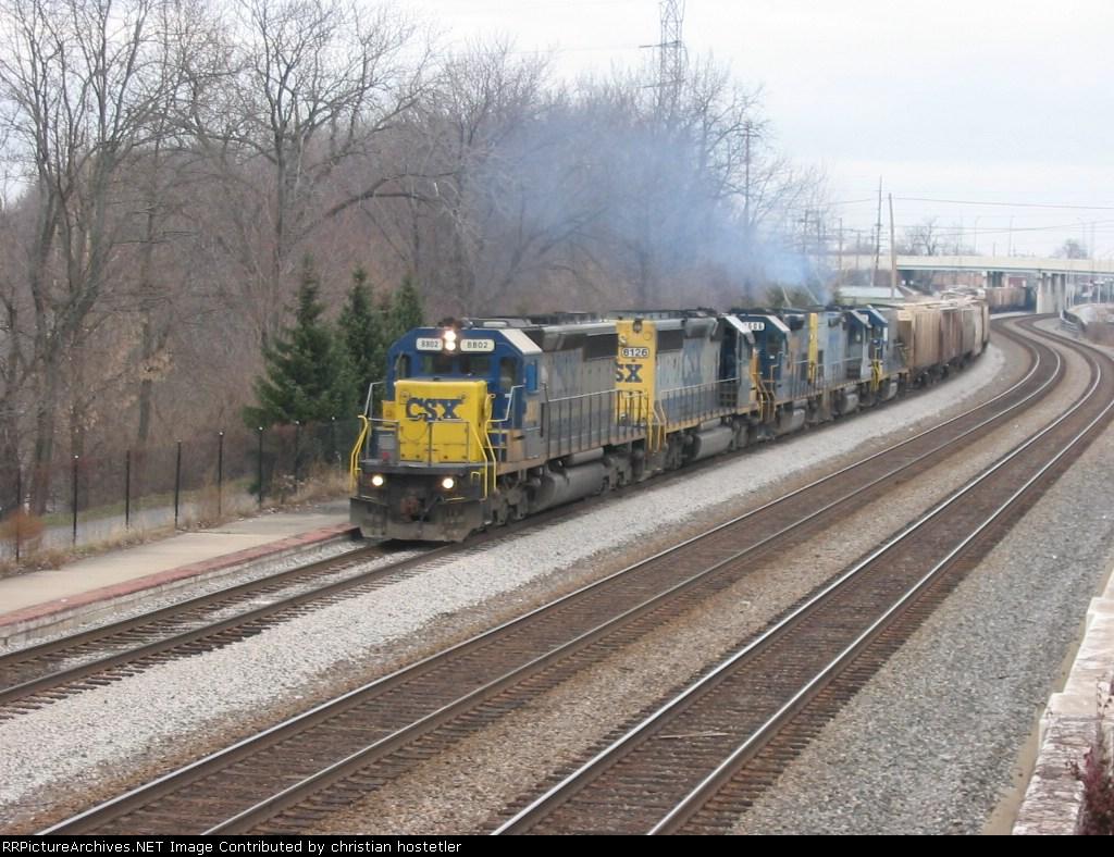 Southbound CSX grain train