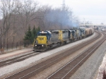 Southbound CSX grain train