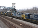 CSX grain train Power