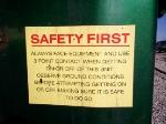 SAFTEY FIRST