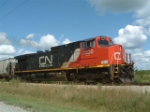 CN 2530 With 88 cars in tow.