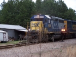 "CSX 6068 Passes old ""Barn Find"" Truck"